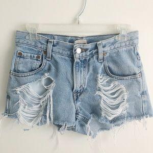 LF/ Furst of Kind/Levi High Waisted Jean Shorts